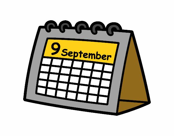 Desenho De Calendario De Mesa Pintado E Colorido Por Muriloca O