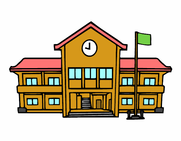 Desenho De Escola Pintado E Colorido Por Vitorcely O Dia 01 De