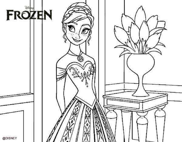 Desenho De Frozen Princesa Anna Pintado E Colorido Por Usuario Nao