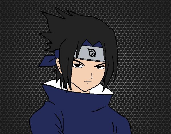 Desenho De Sasuke Uchiha Pintado E Colorido Por Usuario Nao
