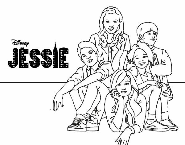 Desenho De Jessie Disney Channel Pintado E Colorido Por Usuario