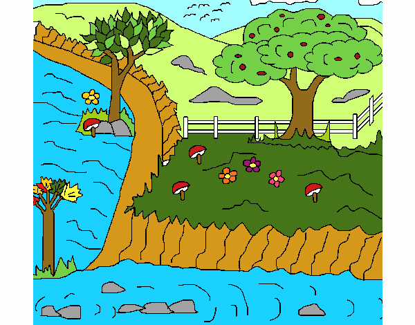 Desenho De Paisagem Rural Pintado E Colorido Por Usuario Nao