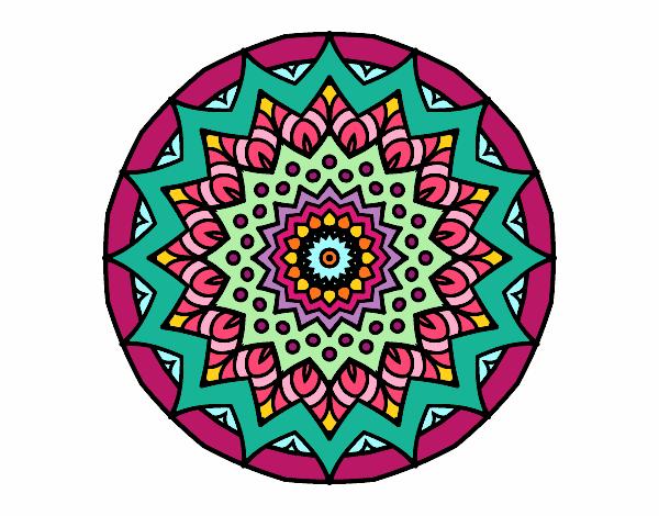 Desenho De Crescente Mandala Pintado E Colorido Por Lunefee O Dia