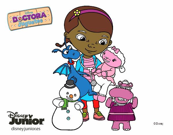 Desenho De Doutora Brinquedos E Seus Amigos Pintado E Colorido Por