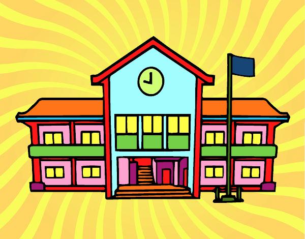 Desenho De Escola Pintado E Colorido Por Cello O Dia 01 De Julho