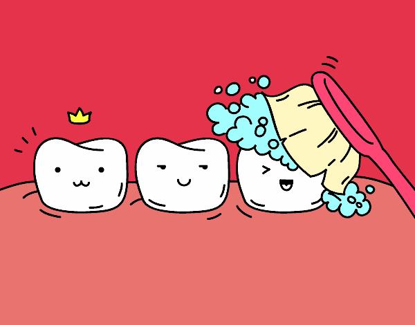 Desenho De Os Dentes Pintado E Colorido Por Giihferre O Dia 11 De