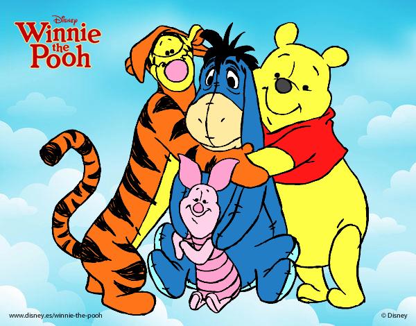 Desenho De Ursinho Pooh E Seus Amigos Pintado E Colorido Por Cello