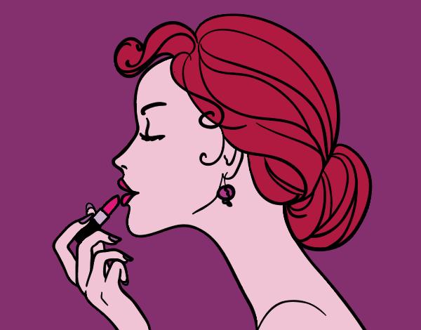 Desenho De Maquiagem Dos Labios Pintado E Colorido Por Brisa O Dia
