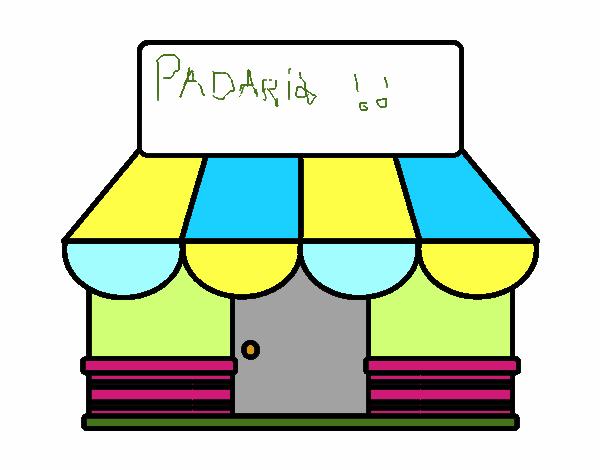 Desenho De Loja Com Toldo Pintado E Colorido Por Usuario Nao