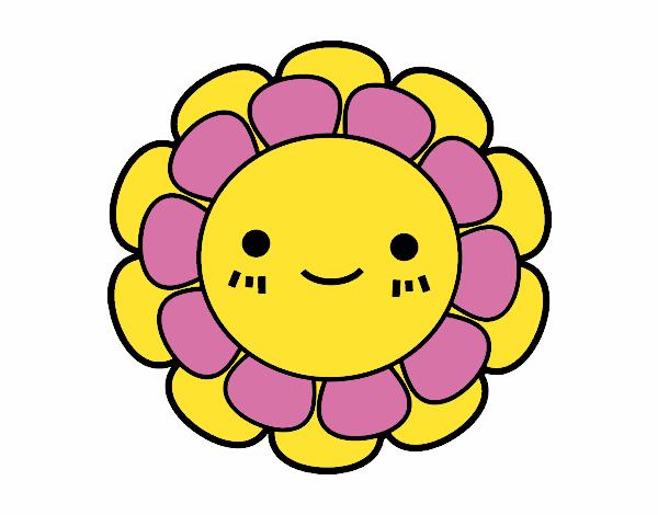 Desenho De Florzinha Infantil Pintado E Colorido Por Bhunna O Dia
