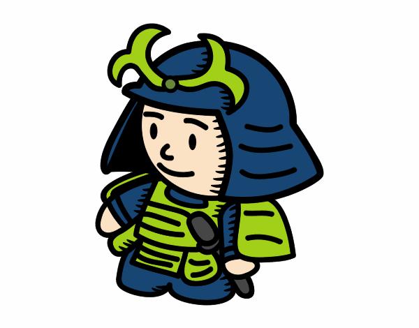 Desenho De Samurai Com Armadura Pintado E Colorido Por Usuario Nao
