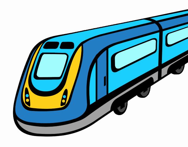 Desenho De Trem Bala Pintado E Colorido Por Usuario Nao Registrado