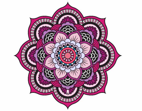 Desenho De Mandala Flor Oriental Pintado E Colorido Por Usuario