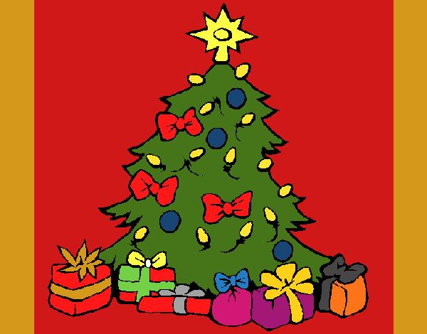 Desenho De Arvore De Natal Pintado E Colorido Por Usuario Nao