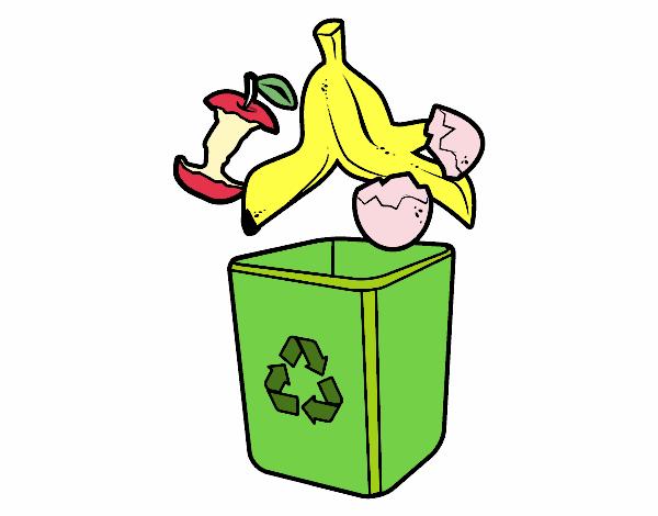 Desenho De Lixo Organico Pintado E Colorido Por Usuario Nao