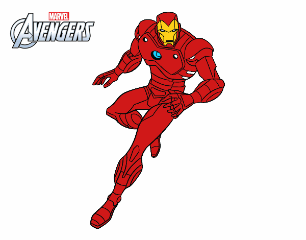 Desenho De Vingadores Iron Man Pintado E Colorido Por Usuario