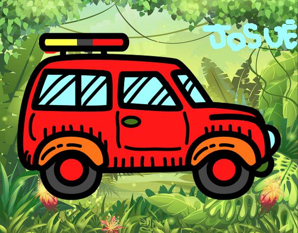 Desenho De Carro Com Porta Malas Pintado E Colorido Por Jojejo O