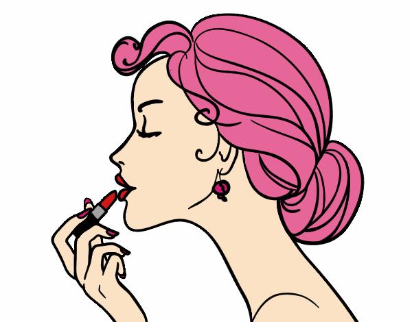 Desenho De Maquiagem Dos Labios Pintado E Colorido Por Stephaniia