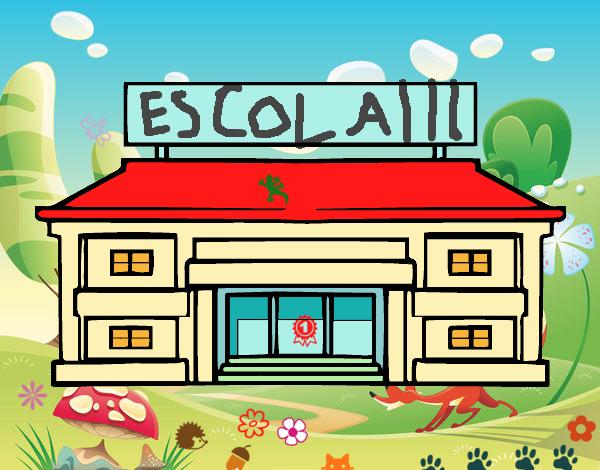 Desenho De Escola Primaria Pintado E Colorido Por Usuario Nao