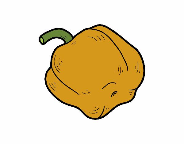 Desenho De Pimenta Amarela Pintado E Colorido Por Veriana O Dia 01