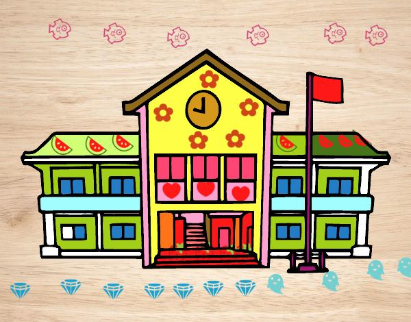 Desenho De Escola Pintado E Colorido Por Vitorcely O Dia 06 De