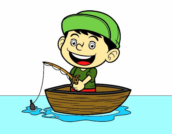 Desenho De Menino A Pescar Pintado E Colorido Por 2016 O Dia 29 De