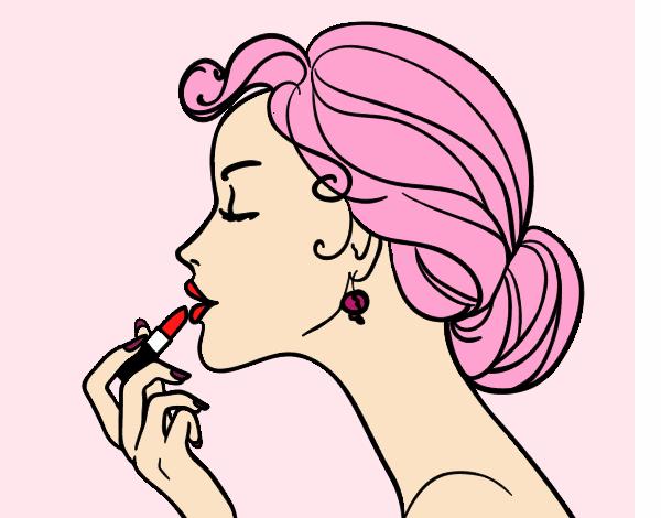 Desenho De Maquiagem Dos Labios Pintado E Colorido Por Foxgirl O
