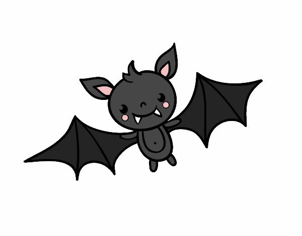 Desenho De Um Morcego Do Halloween Pintado E Colorido Por Usuario