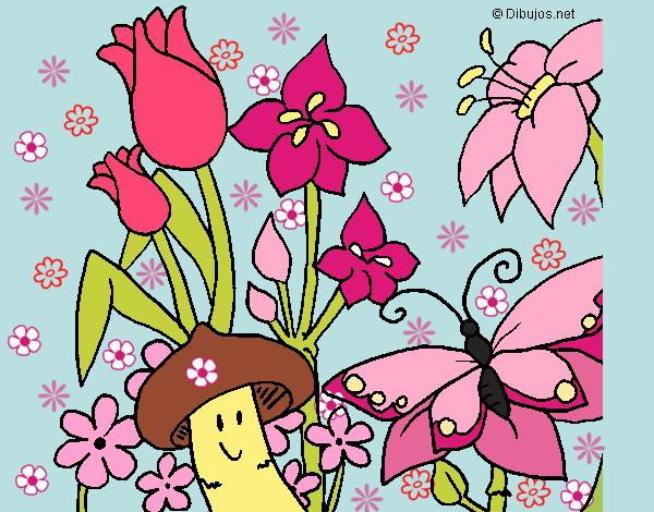 Desenho De O Jardim Encantado Pintado E Colorido Por Usuario Nao