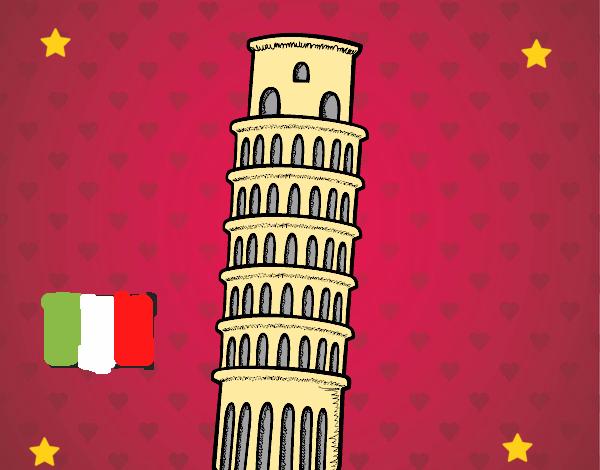 Desenho De Torre De Pisa Pintado E Colorido Por Usuario Nao