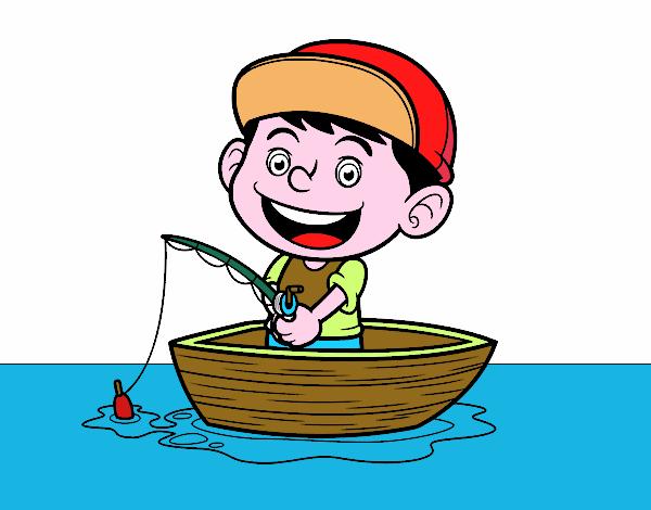 Desenho De Menino A Pescar Pintado E Colorido Por Dirce O Dia 16