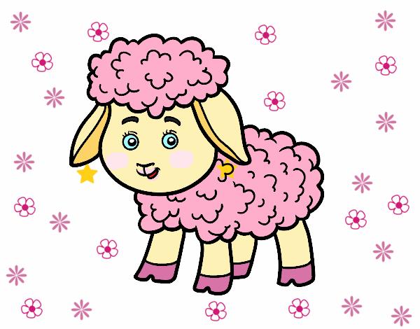 Desenho De Pequena Ovelha Pintado E Colorido Por Colori O Dia 12