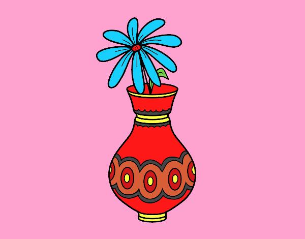 Desenho De Uma Flor Em Um Vaso Pintado E Colorido Por Carmasiana O