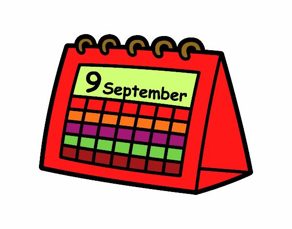 Desenho De Calendario De Mesa Pintado E Colorido Por Betinho O Dia
