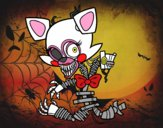 Desenho Mangle de Five Nights at Freddy's pintado por Valeriah