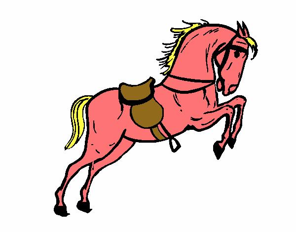 Desenho De Cavalo De Fogo Pintado E Colorido Por Usuario Nao