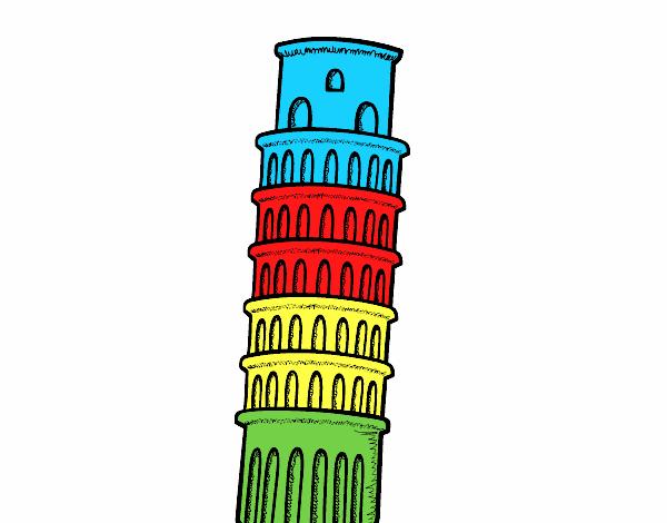 Desenho De A Torre De Pisa Pintado E Colorido Por Usuario Nao