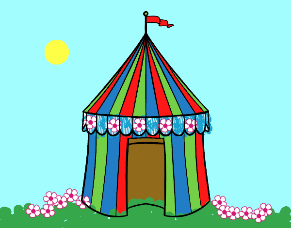 Desenho De Tenda De Circo Pintado E Colorido Por Ceciliaz O Dia 12