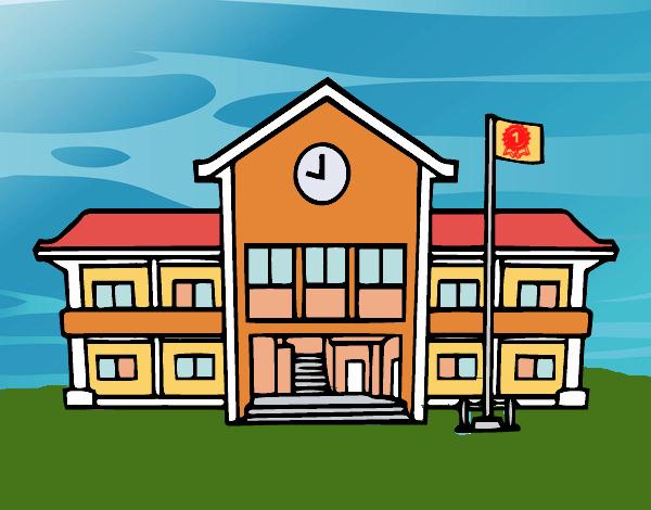 Desenho De Escola Pintado E Colorido Por Craudia O Dia 01 De Maio