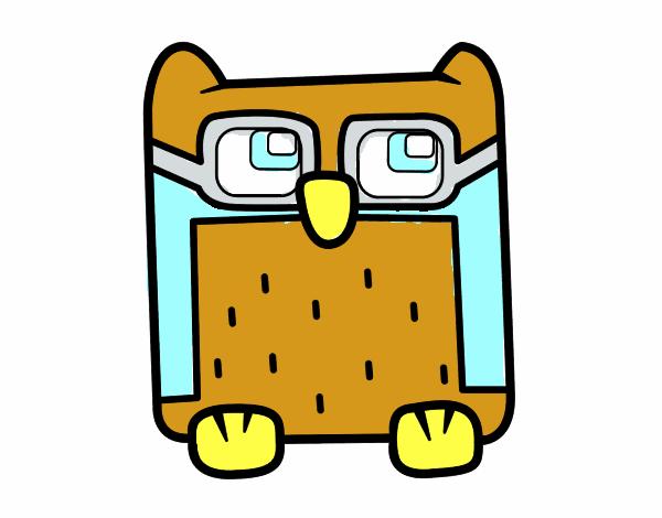 Desenho De Coruja Com Oculos Pintado E Colorido Por Usuario Nao