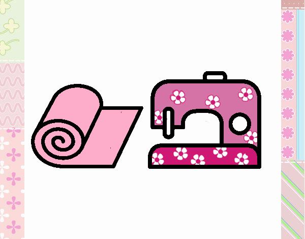 Desenho De Maquina De Costura Pintado E Colorido Por Usuario Nao