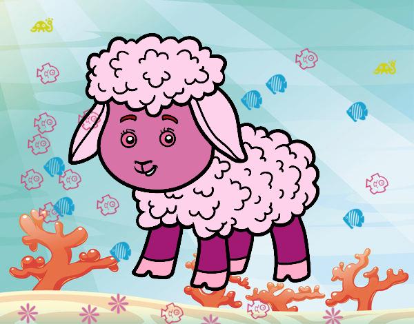 Desenho De Ovelha Rosa Pintado E Colorido Por Usuario Nao