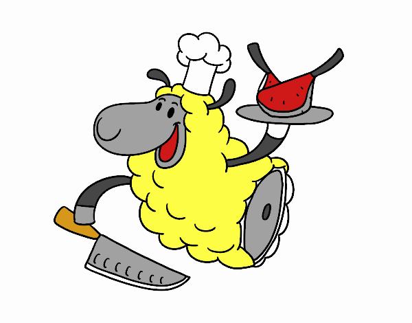Desenho De Carne De Cordeiro Pintado E Colorido Por Usuario Nao