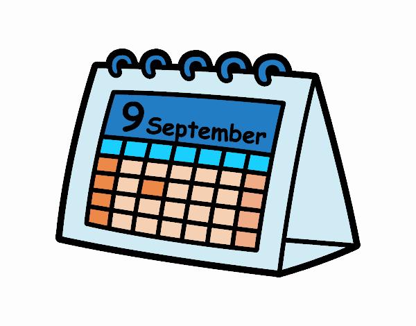 Desenho De Calendario De Mesa Pintado E Colorido Por Usuario Nao