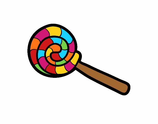 Desenho De Pirulito Pintado E Colorido Por Usuario Nao Registrado