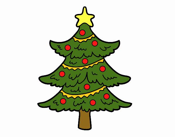 Desenho De Arvore De Natal Decorada Pintado E Colorido Por Usuario