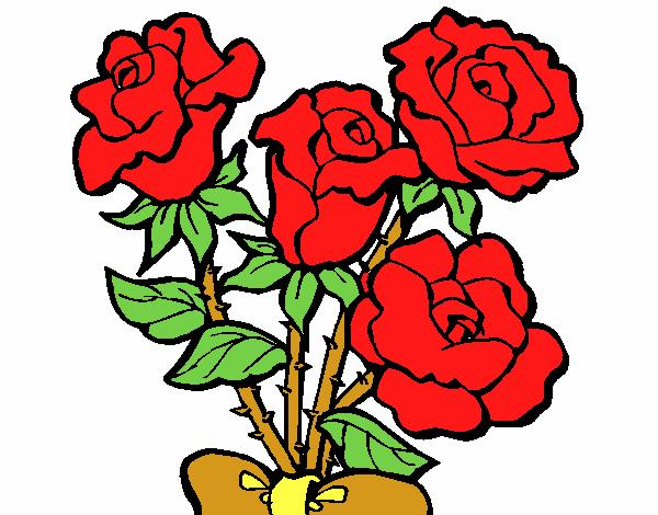 Desenho De Rosas Vermelhas Pintado E Colorido Por Usuario Nao