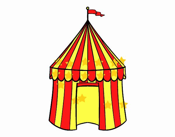 Desenho De Tenda De Circo Pintado E Colorido Por Usuario Nao