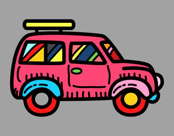 Desenho De Carro Com Porta Malas Pintado E Colorido Por Usuario