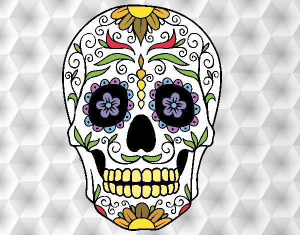 Desenho De Caveira Mexicana Pintado E Colorido Por Mah10 O Dia 30